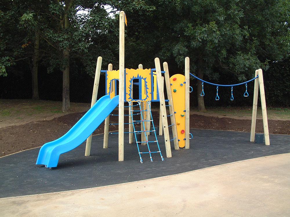 Small Compact School Playground Slide - Setter Play Equipment UK