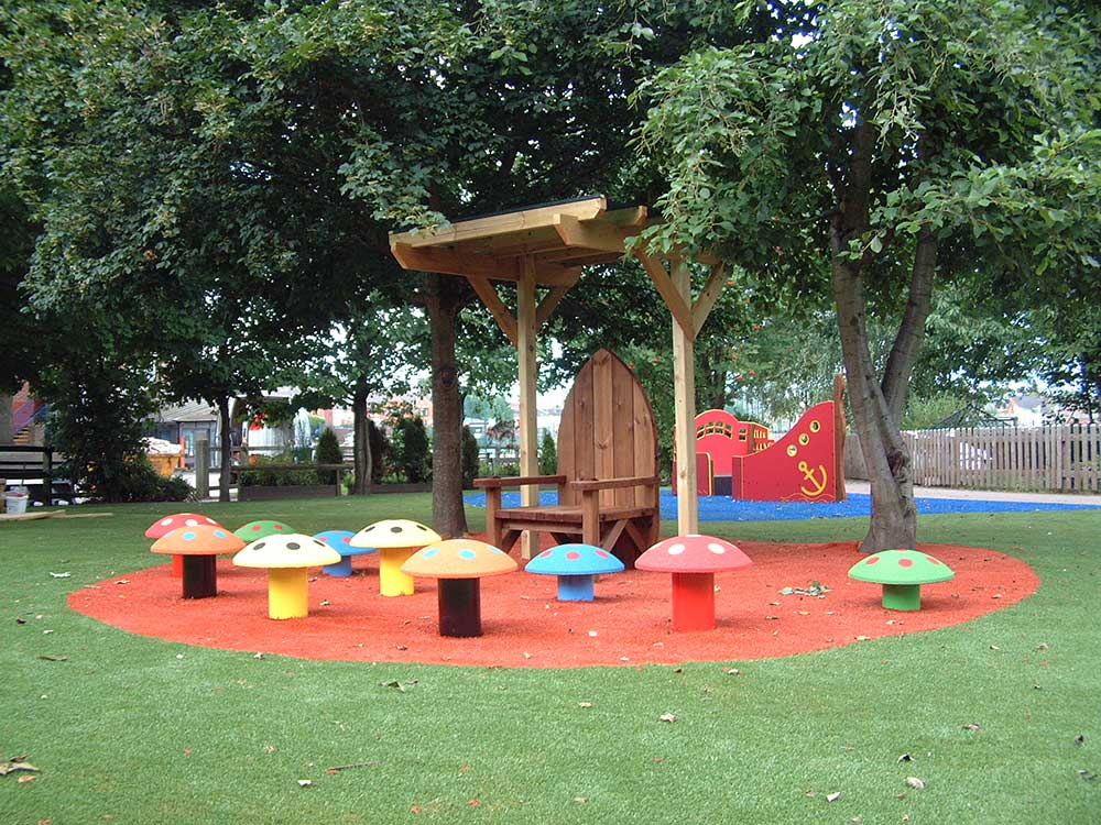 Playground Equipment for Social and natural play