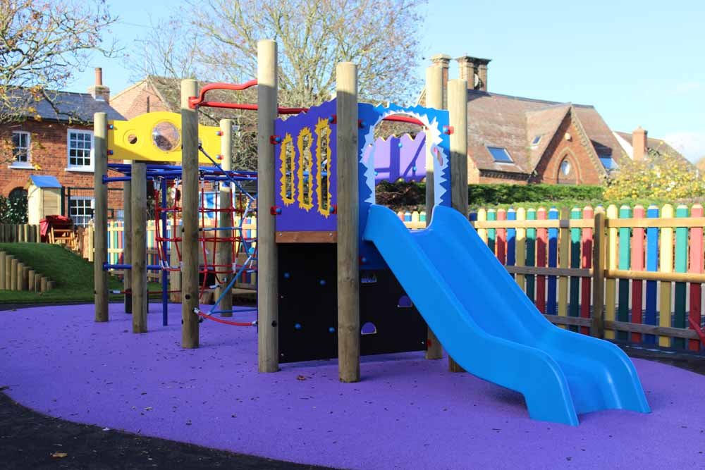 Full climbing frame and slide from Setter Play
