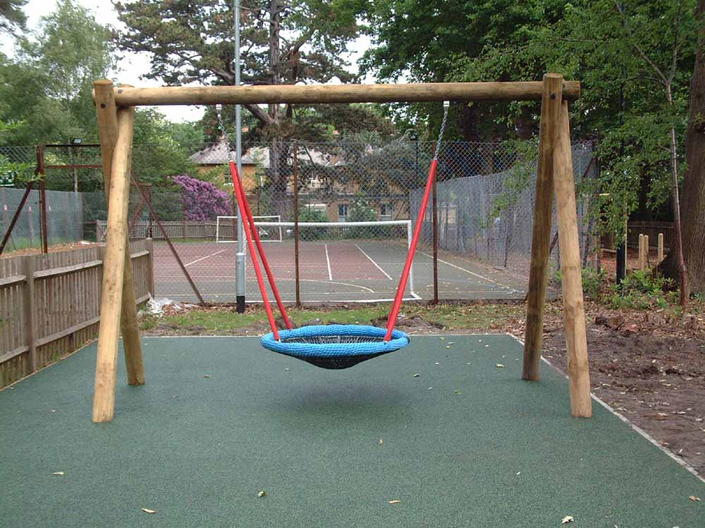 Wooden Playground Swing for Schools - Setter Play UK