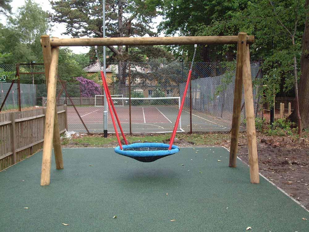 Swinging Playground Equipment : School playground equipment wooden climbing frames uk