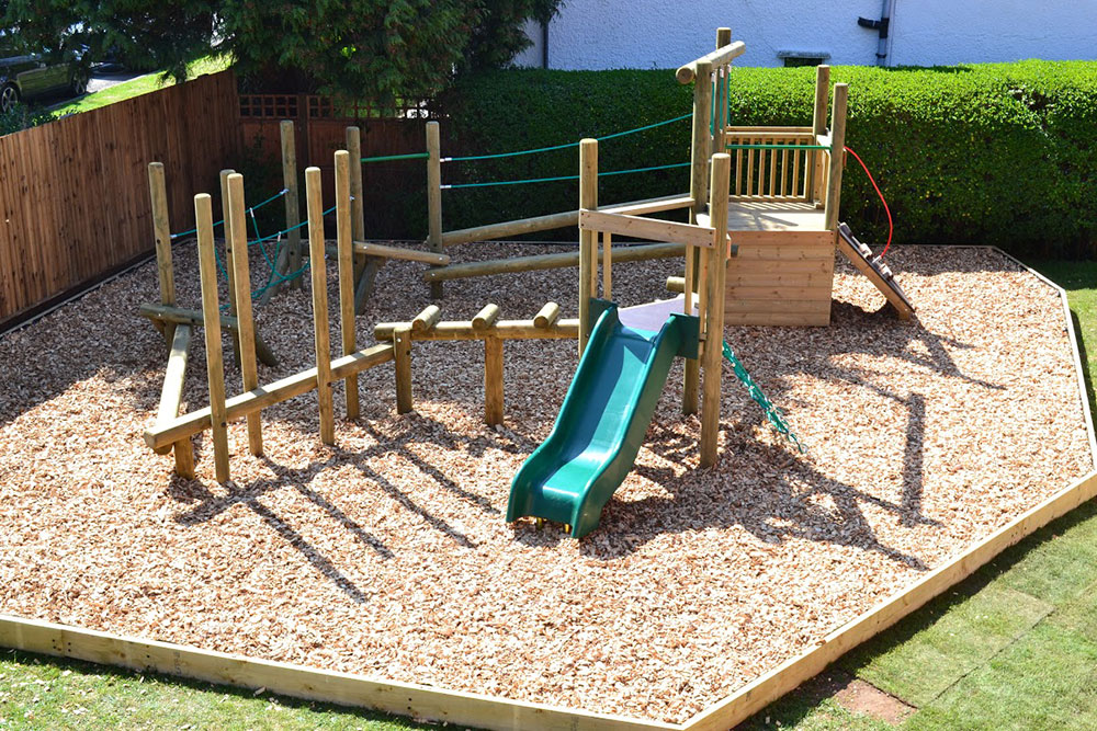 Bespoke Wooden Playground Slide & Equipment here at Setter Play