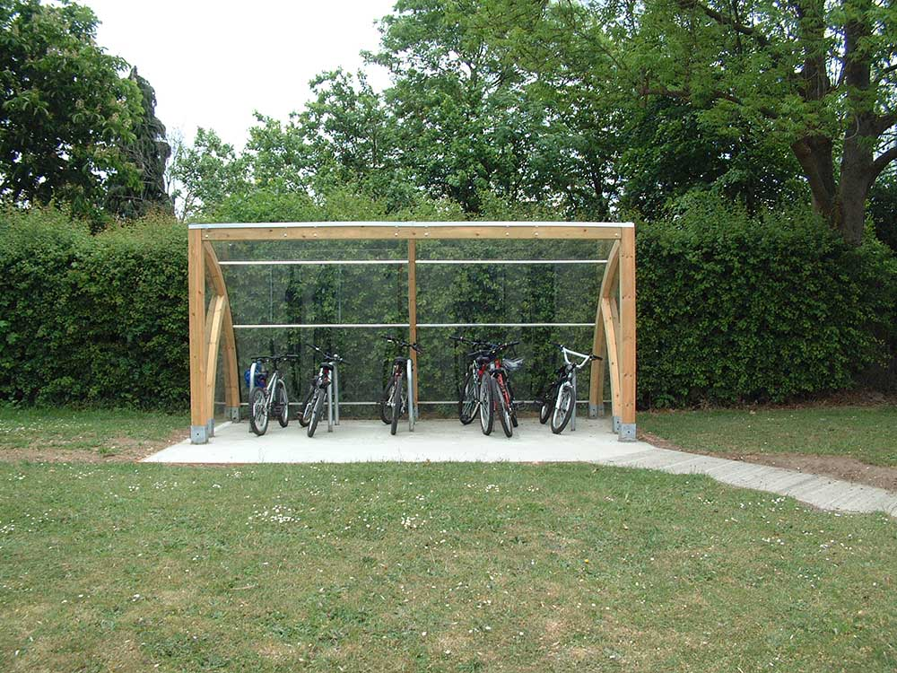 Full Bike Shelters : Cycle shelters manufacturers uk bike shelter for schools