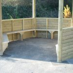 half height panels with integral benches