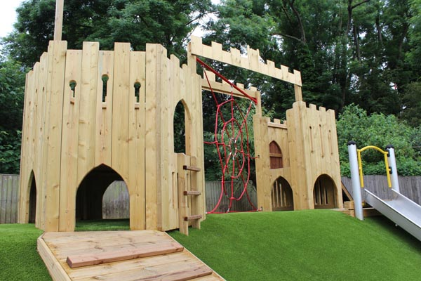 Wooden Fortress for School Playground Equipment. All from Setter Play UK
