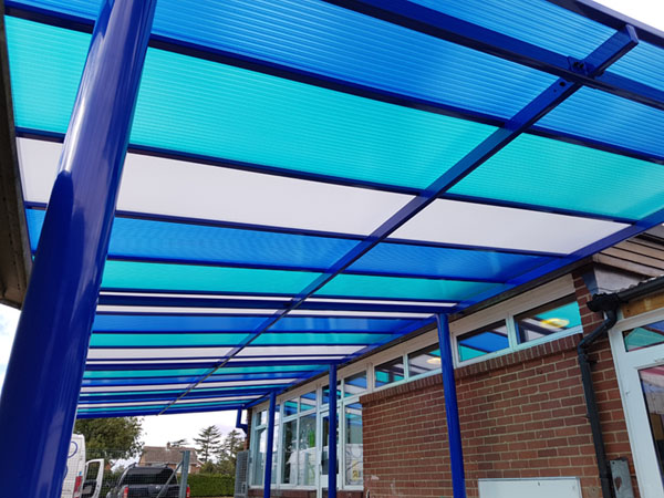 colourful school canopy