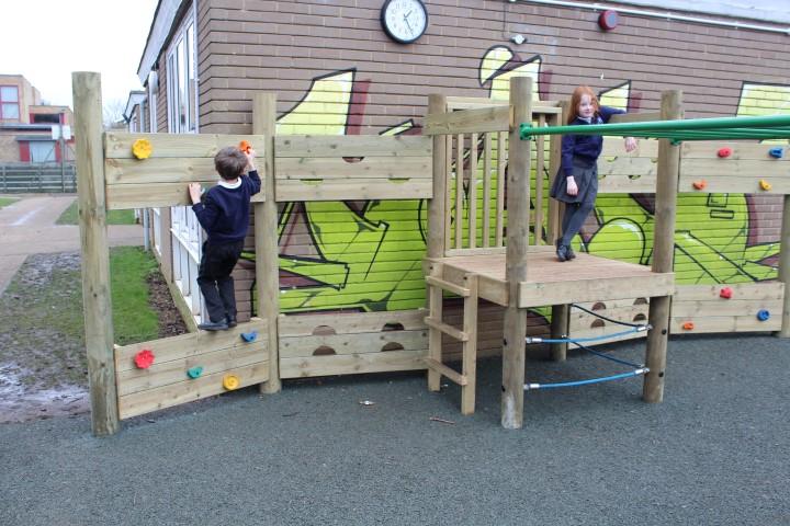 Primary school climbing wall