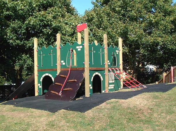 Castle themed playground